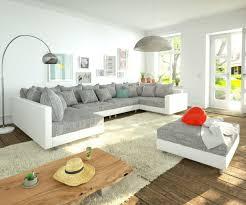 Couch Clovis Xl Weiss Hellgrau Modulsofa Hocker Armlehne Wohnlandschaft