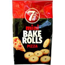 Chipita 7 Days Mini Bake Rolls Pizza 80g