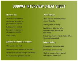 subway interview questions and answers subway interview questions