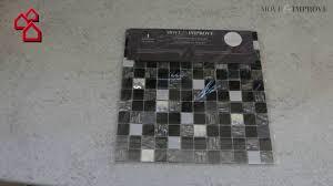 Selbstklebemosaik Sam 4cm24 30 X 30 Cm Glas Weiß Bauhaus