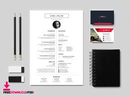 Modern Sleek Resume Templates Best Free Resume Cv Template Freedownloadpsd Com