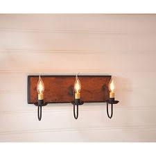 primitive bathroom lighting. new primitive bathroom hallway 3 arm vanity light hartford pumpkin lighting