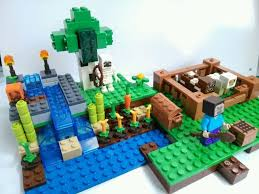 minecraft farm minecraft first night coolie minifigures building block sets enlighten kids toys lego compatible
