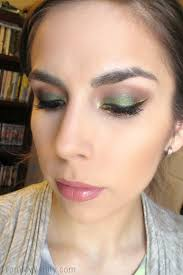 a close up shot of a fun and festive saint patrick s day makeup look