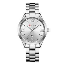 <b>CURREN</b> Waterproof Women <b>Date</b> Analog Alloy Casual Quartz ...