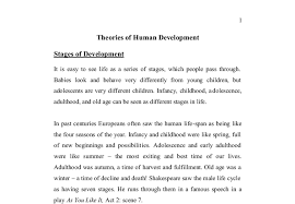 theories of human development stages of development a level  document image preview