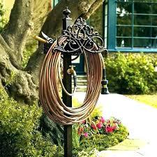 free standing hose holder decorative hose stand garden hose stand wrought iron garden hose holders outdoor