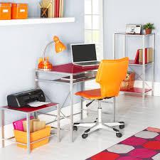 office decor inspiration. Design Ideas, Yellow Swivelchair White Ceramic Flooring Tile Light Grey Wall Paint Home Office Decorating Decor Inspiration D