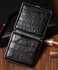 cigarette crocodile alligator leather case 2