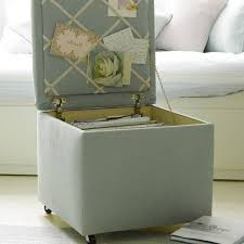 soft blue file cabinet Ottoman with message board luxurious and cozy sofa