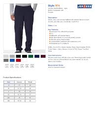 Jerzees 974 Adult Nublend Open Bottom Sweatpants With Pockets