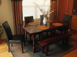 astounding brown double dining room curtains with blinds as well as vintage brown french dining table set with benches on grey dining carpet in small room