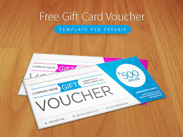 Freebie Clean And Modern Gift Voucher Template Psd By Psd