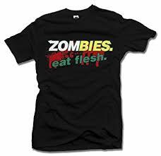 AM T-Shirts Zombies. EAT Flesh. Zombie Parody T ... - Amazon.com
