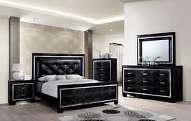 black modern bedroom furniture. black crocodile leatherette modern bed bedroom furniture d