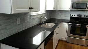 Kitchens With Black Granite Luury Shaker White Kitchen Cabinets Feat Black Granite Countertop