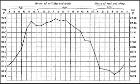 Human Temperature Chart Humans Body Temperature Changes Throughout The Day But Not
