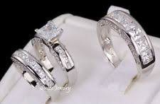 matching silver wedding bands. his and hers matching engagement wedding band ring set 925 sterling silver 4-13 bands