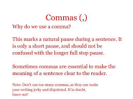 When Do I Use A Comma Punctuation
