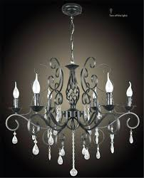 ideas wrought iron chandelier with crystals or loft vintage rural countryside creative restaurant iron chandelier crystal