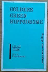 Lilac Time programme Golders Green Hippodrome Theatre 1965 Elisabeth Wade |  eBay