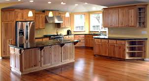 stained hickory cabinets. Beautiful Cabinets Rustic Hickory Kitchen With Stained Cabinets S