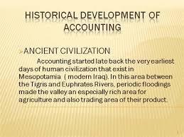 History Of Accounting Authorstream