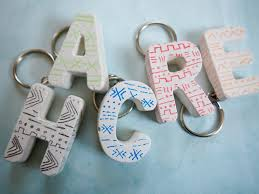 Simple Keychain Design Diy Mud Cloth Inspired Plaster Keychains How To Make A