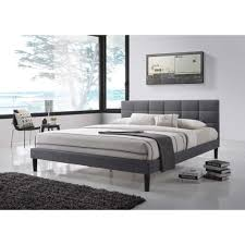 sophisticated lexington bedroom furniture. Lexington Gray Fabric King-Size Square Tufted Upholstered Platform Contemporary Bed Sophisticated Bedroom Furniture D