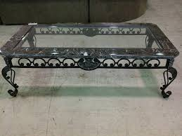 Wrought Iron And Glass Top Coffee Table | Coffee Tables Decoration For Metal  Coffee Tables With
