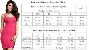 What Is Bust In Size Chart Size Chart M Dear Lover Com