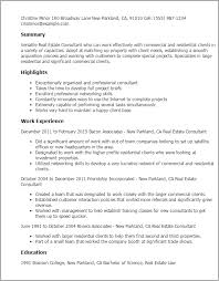 Resume Templates: Real Estate Consultant