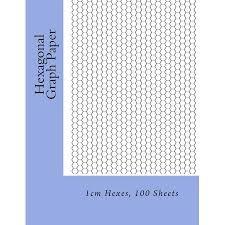 Hexagonal Graph Paper 1cm Hexes 100 Sheets Paperback