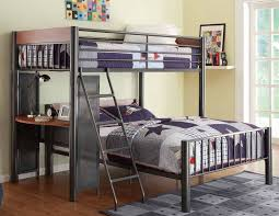 metal bunk bed twin over full. Metal Twin / Full Loft Bed Bunk Over N
