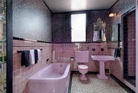 pink silver black bathroom eclectic