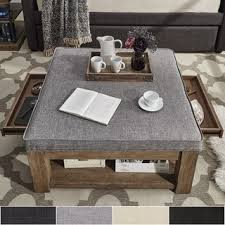 ottoman coffee table. Shop Lennon Pine Square Storage Ottoman Coffee Table By INSPIRE Q Artisan - On Sale Free Shipping Today Overstock.com 13404313