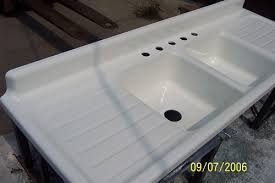porcelain kitchen sink cool ideas vintage kitchen sink with drainboards restoring the porcelain on a vin