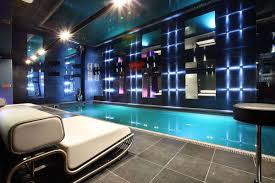 cool indoor lighting. Swimming Pool:Luxury Modern Indoor Pool Decor With Amazing Wall Lighting And Grey Cool