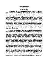an essay on things fall apart things fall apart essays gradesaver