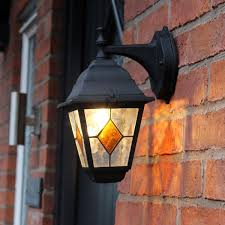 kingfisher stained glass victorian wall light lantern porch door outdoor