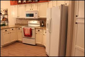 White Appliances In Kitchen Painted Kitchen Cabinets With White Appliances Wallpaper For All