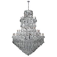 worldwide lighting maria theresa collection 84 light polished chrome crystal chandelier
