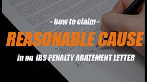 irs penalty abatement reasonable cause letter x