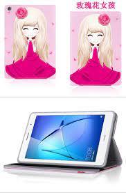 Dành Cho Máy Tính Bảng Huawei MediaPad T3 Ốp Lưng Da PU Gập Folio Bao Da Ốp  Lưng Cho Huawei MediaPad T3 8 Inch KOB L09 KOB W09 + Miếng Dán Màn