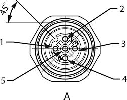 Sal m12x1 5 pole connector conec 43 01001