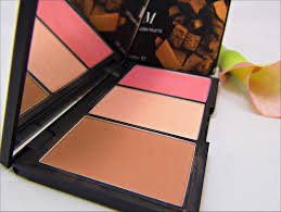 sleek make up face form contouring brush palette light