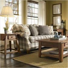 plaid living room furniture. blue plaid sofa   broyhill 6440-3q angeline cottage in · cozy living roomsliving room furniture 9