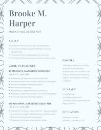 Cool Resume Templates For Mac Gorgeous Light Blue Pattern College Resume Templates By Canva