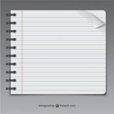 notebook page vector free vector