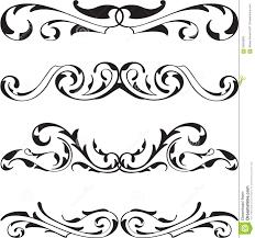 Divide victorian cool design elements set Stock Photos